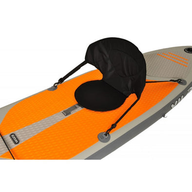Kayak seat for inflatable paddleboards