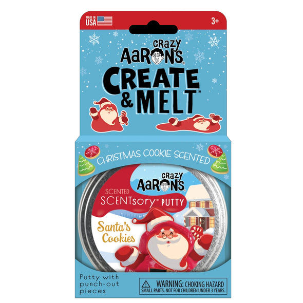 Crazy Aaron Scentsory  and Create & Melt Santa's Cookies Thinking Putty