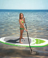 Paddlinng with Solstice Tonga inflatable stand up paddleboard