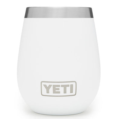 YETI 10 ounce wine tumbler in white