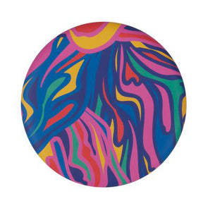 Waboba Wingman Foldable Silicone Disk in Groovy Rainbow pattern