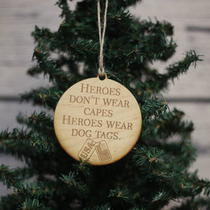 Driftless Studios - Dog Tags Christmas Ornament