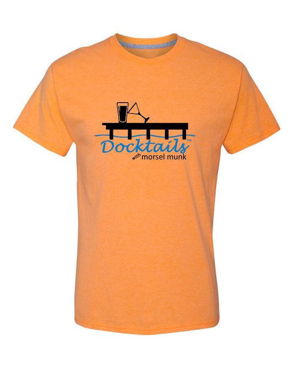 Men's Docktails cocktail apparel orange t-shirt, inspired by many a sunset cocktail