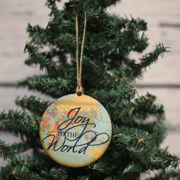 Driftless Studios - Joy To The World Map Ornament