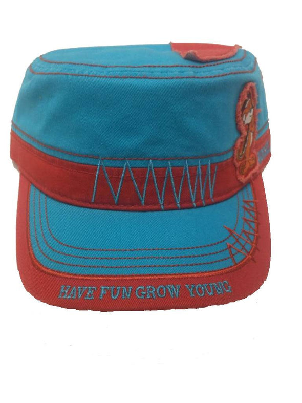 Fidel Hat - Morsel Munk Have Fun Grow Young in Bright Blue