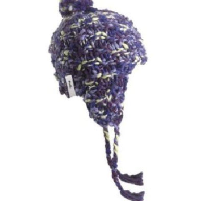 CWL knit earflap hat from TurtleFur in purple