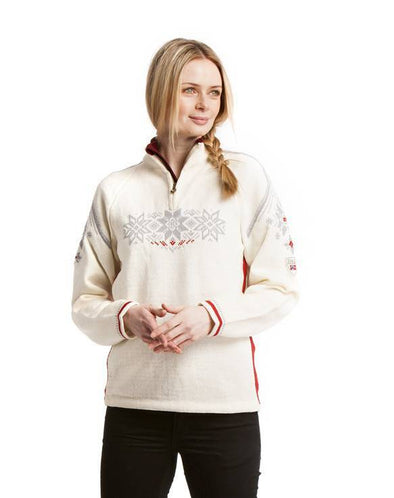 Dale of Norway Women's Holmenkollen Sweater in Off White color