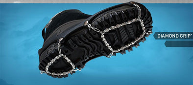 Ice Trekkers diamond grip design provide ice traction for your shoes