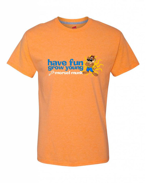 Men's Have Fun Grow  Young t-shirt in orange