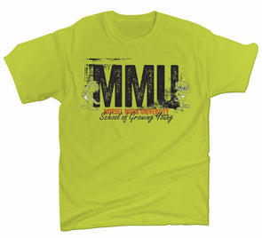 Morsel Munk University short sleeve t-shirt in safety green color