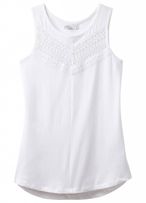 prAna Petra Swing Top in White