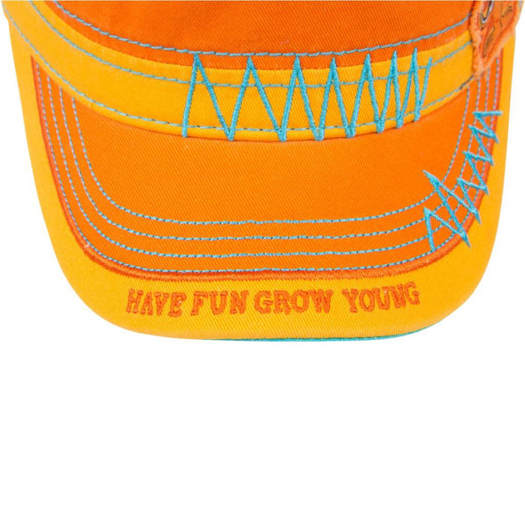 Fidel Hat - Morsel Munk Have Fun Grow Young Orange