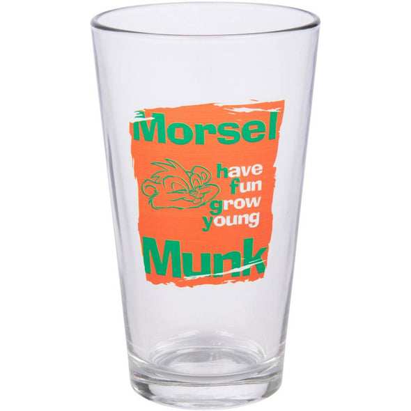 Pint glass with the message Have Fun Grow Young