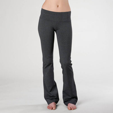 prAna Lolita women's yoga pants in charcoal heather