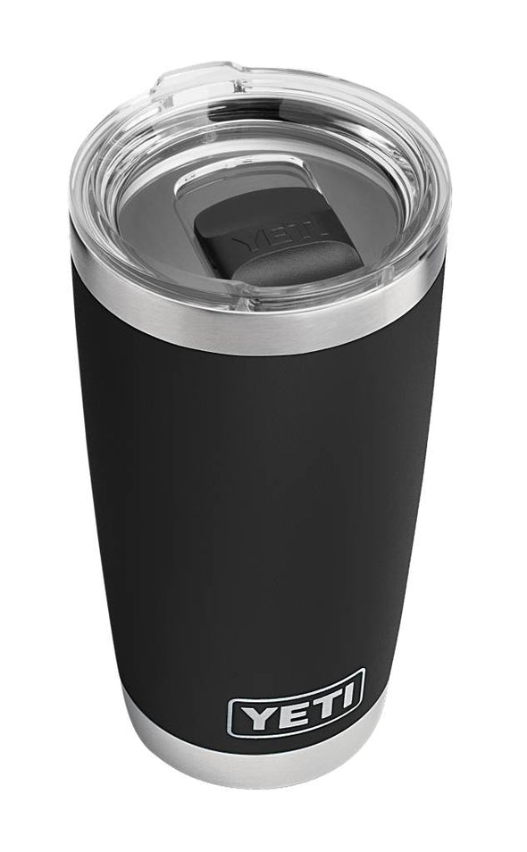 YETI 20 ounce Rambler in Black with MagSlider lid