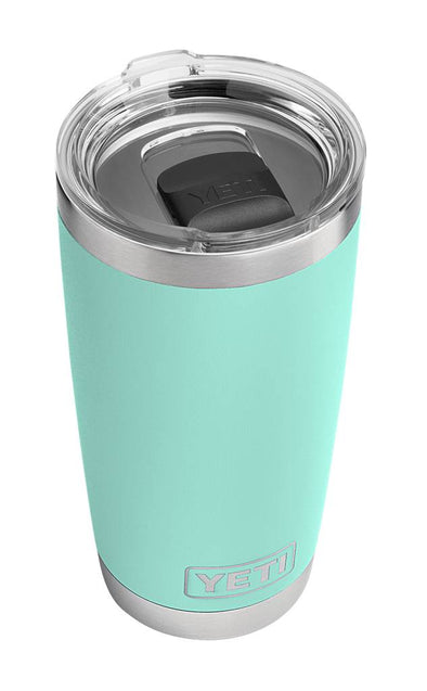 YETI 20 ounce Rambler in Seafoam with MagSlider lid