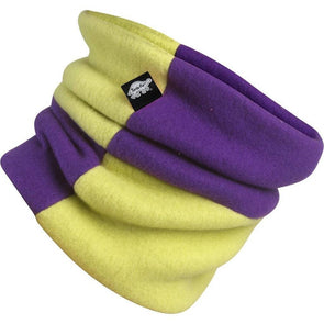 Turtle Fur Rubix kids neck warmer in plum and monster color