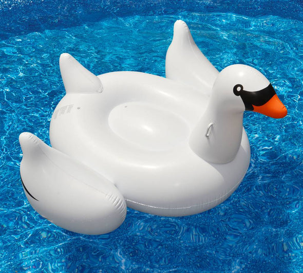 Inflatable swan float from Swimline