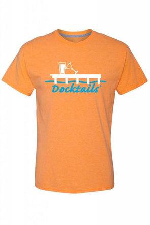 Men's Docktails cocktail apparel orange t-shirt