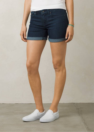 prAna women's kara shorts in indigo color