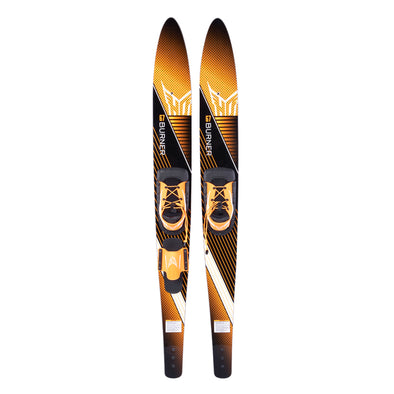 "HO 67"" Burner Combo Waterskis Blaze boot with rear toe strap"