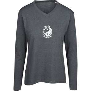 Have Fun Grow Young Yin Yang women's Long Sleeve Shirt in grey