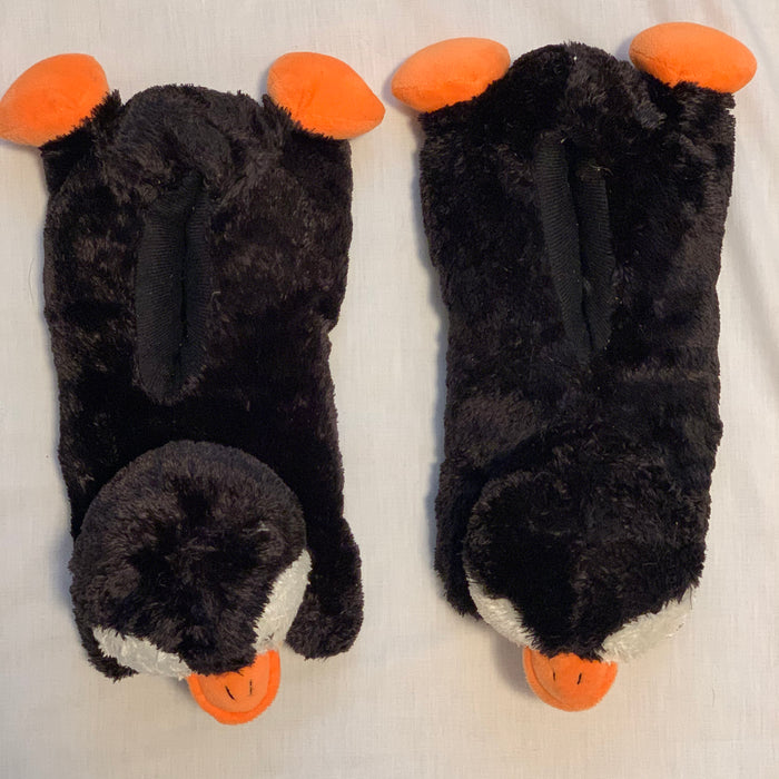 Penguin slippers size (M) 3-4