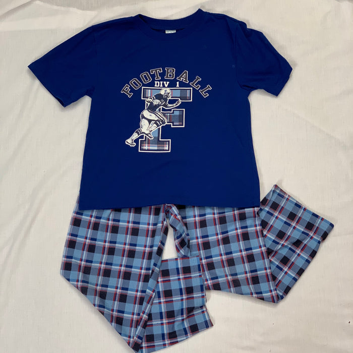 Childrens place football pjs Size 7/8