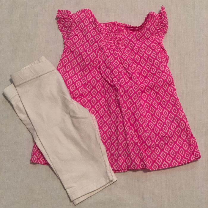Carters 2 piece dress with leggings size 6M