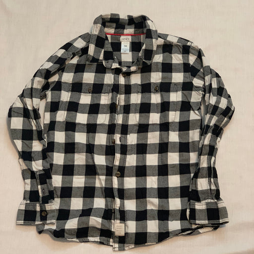 Carters soft fleece button down size 14