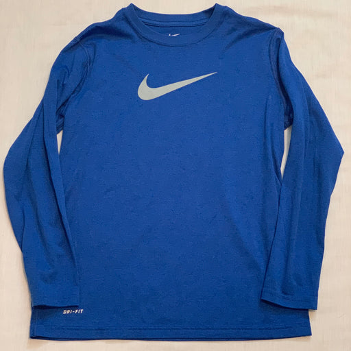 Nike blue long sleeve dri fit size 10-12