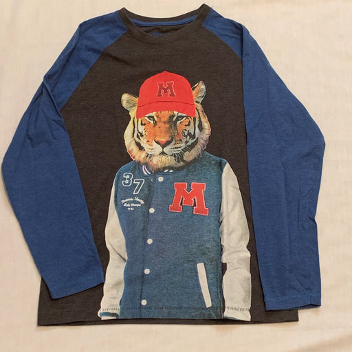 Machine long sleeve lion shirt size 12-14