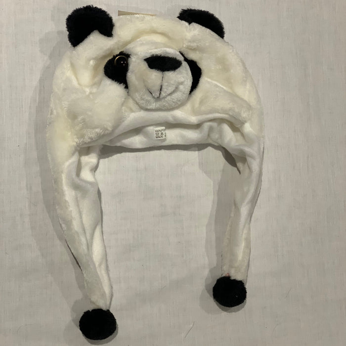 Panda Hat with long tails Size 5/6