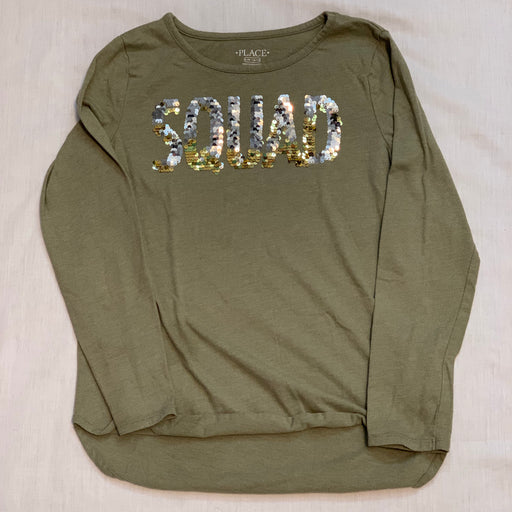 Children's place flip, gold silver squad