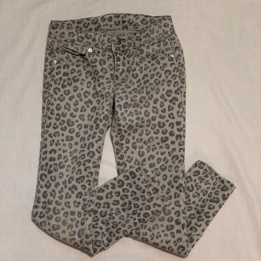 Cheetah jeans worn
