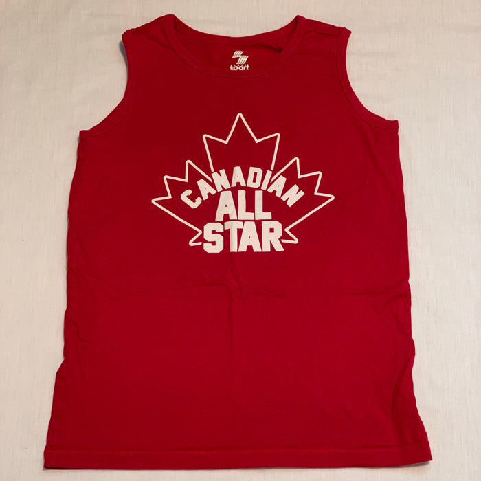 Red Canada tank Size 14Y