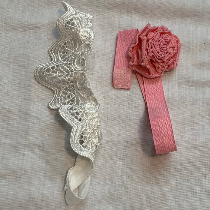 White crown head band rose