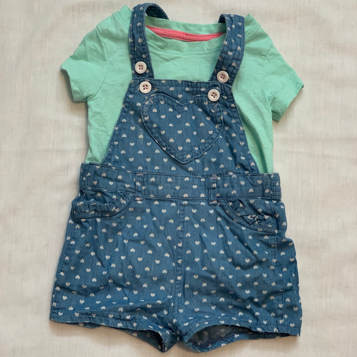 George tee and overalls Size 6-12M