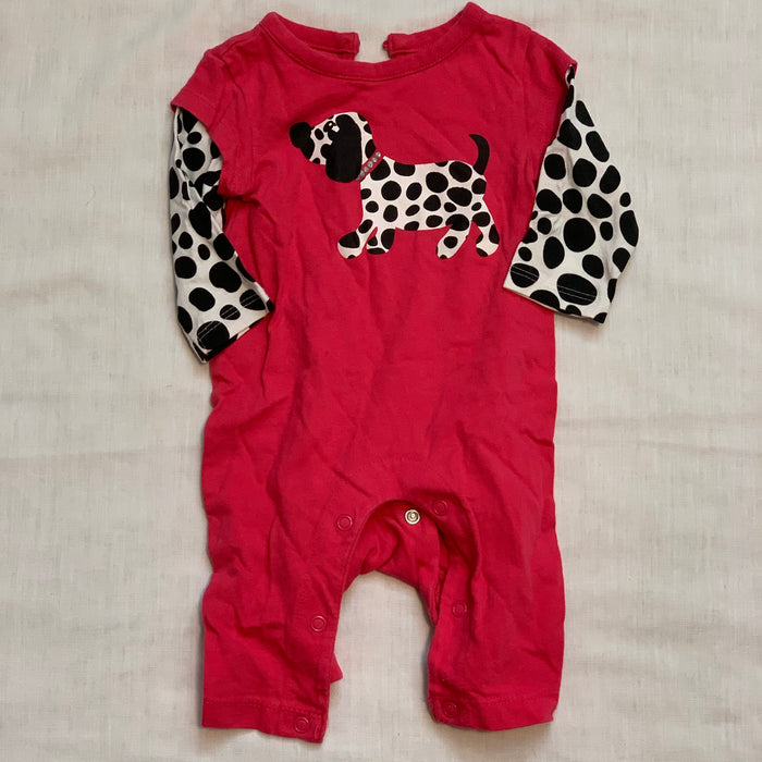 George red long sleeve romper Size 0-3M