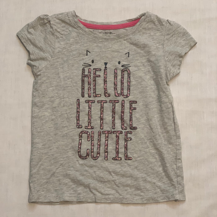 George grey tee sparkle words Size 6