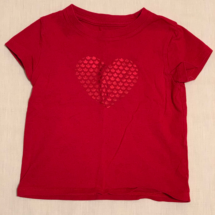 Joe Fresh heart is canada leaf shapes Size 2T
