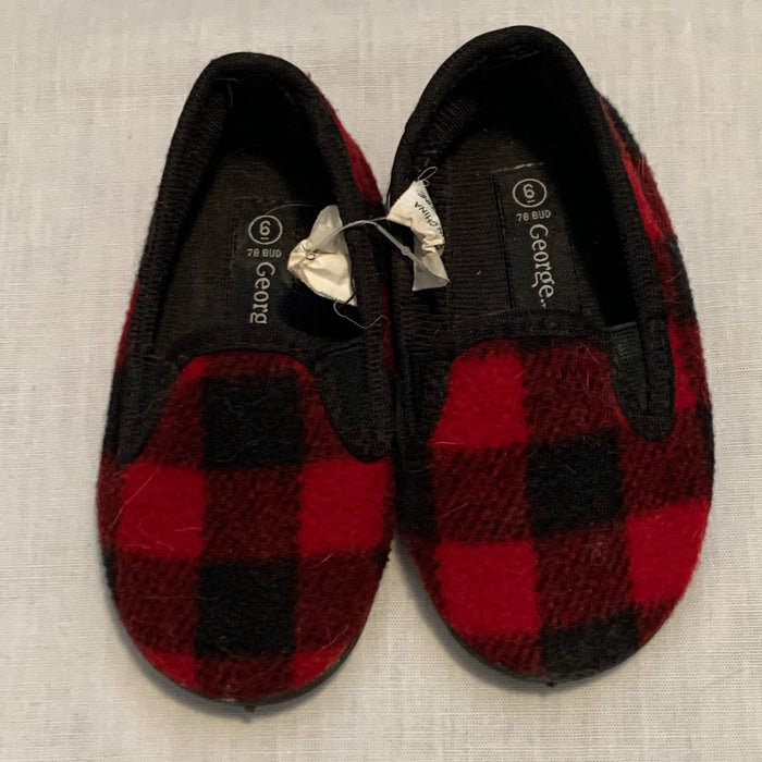 George plaid slippers Size 8