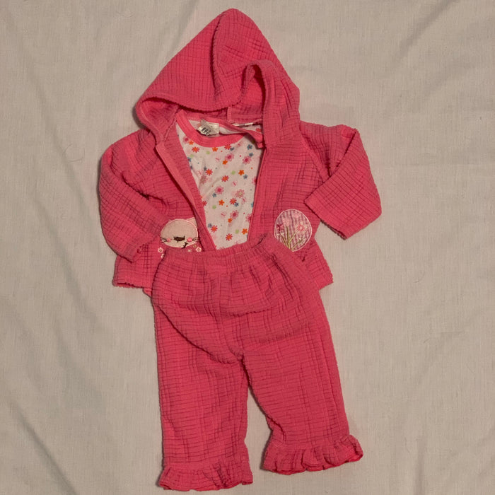 Tuti fruti 3 piece long sleeve Size 6-9M