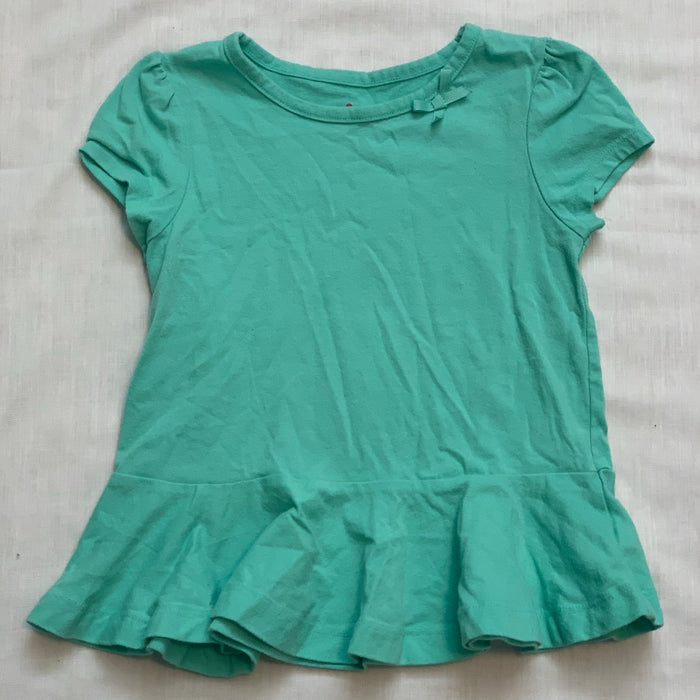 Circo teal tee with ruffle bottom Size 4T