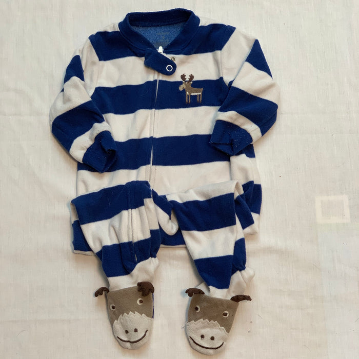 Carters fleece moose feet size 9M