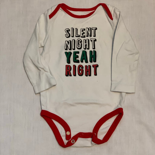 Carters silent night onesie
