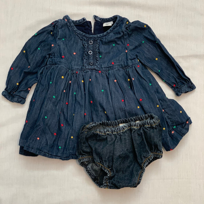 Baby gap light jean dress size 6-12M