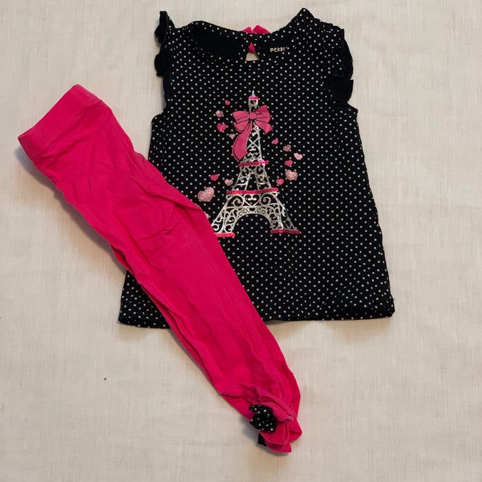Pekkle tank with pink leggings size 2T