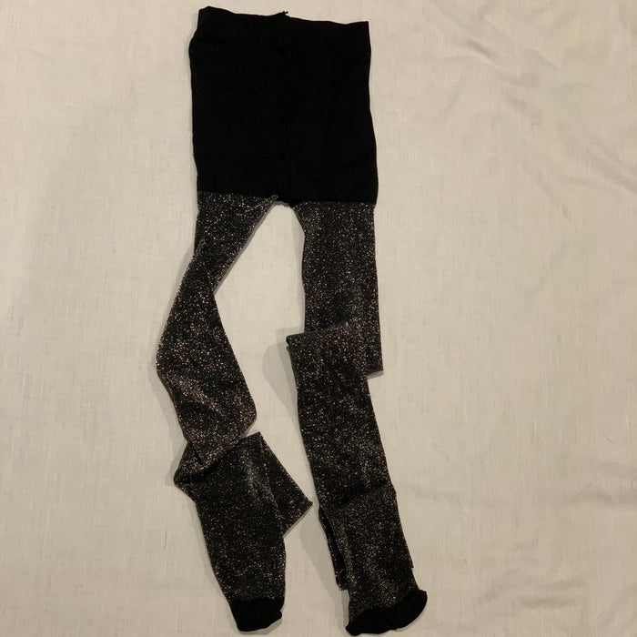 Black sparkle tights Size 14/16