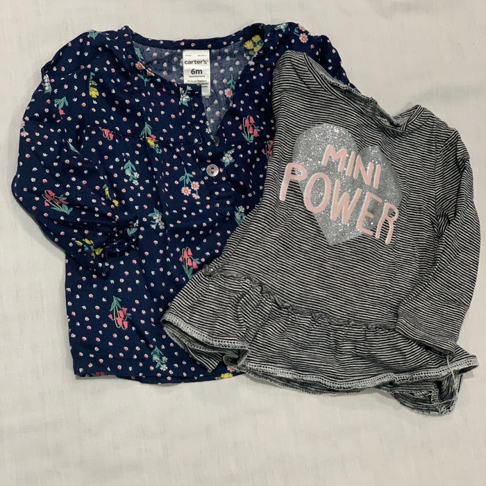 Carters set of 2 shirts Size 6M